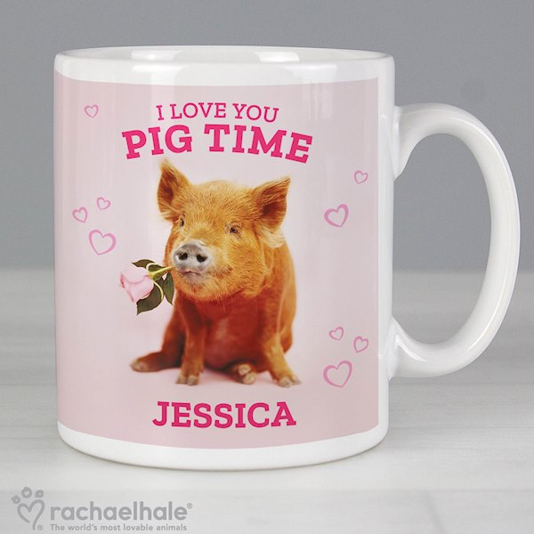 Personalised Rachael Hale 'I Love You Pig Time' Mug
