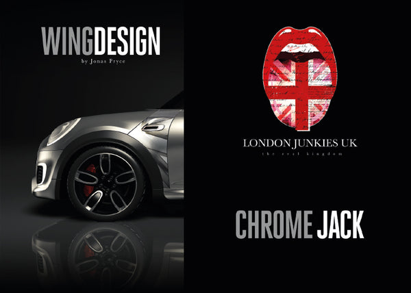 """Chrome Jack"" Mini Design Folie Wing"