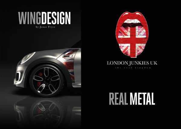 """Real Metal"" Mini Design Folie Wing"