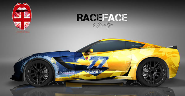Race Face Corvette Vollverklebung