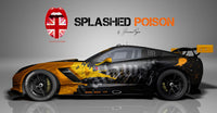 Splashed Poison Corvette Vollverklebung