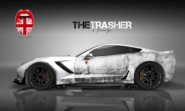 """The Trasher"" Car Wrapping Design"