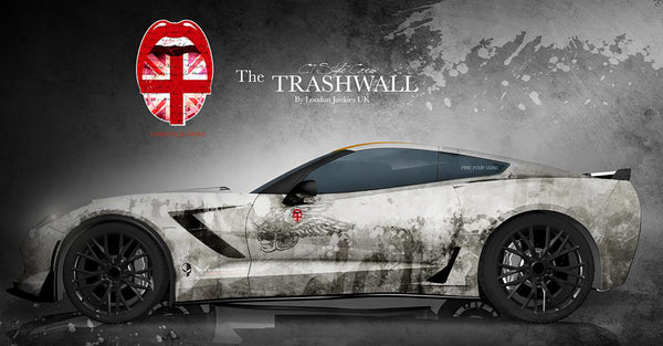 The Trash Wall Corvette Vollverklebung