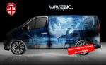 "Opel Vivaro full body wrap Design ""Wave Inc"""