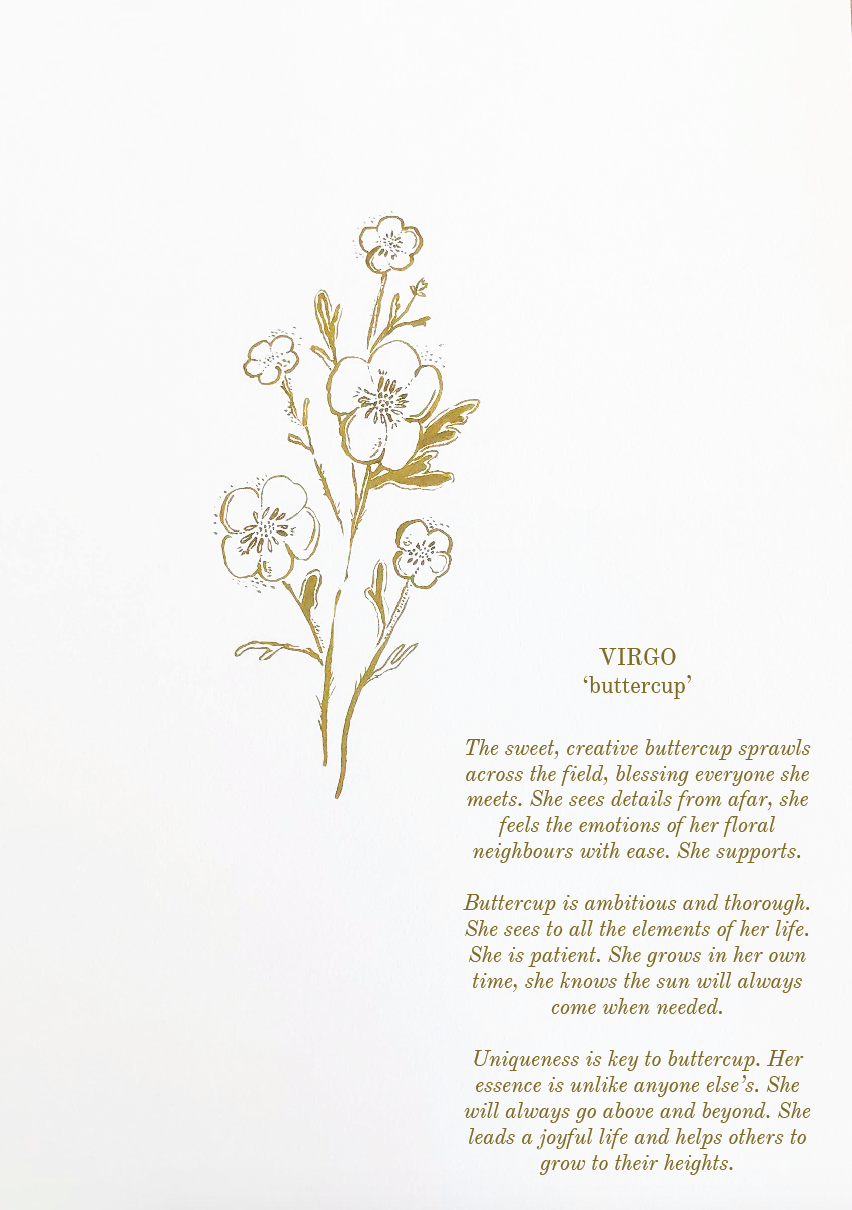 'Virgo ~ Buttercup' // Botanical Starsign Series