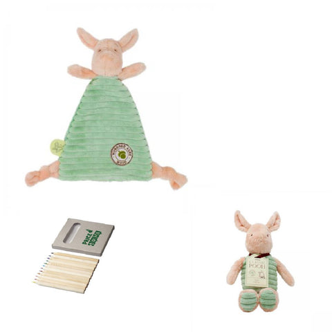 Image of Piglet Soft Toy and Comforter-pooh