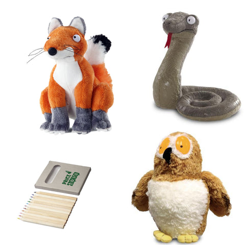 Image of Gruffalo Soft Toys | Fox Owl and Snake Soft Toy | Julia Donaldson Collection