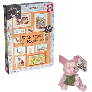 Price Toys Winnie the Pooh 1000 Piece Photoframe Puzzle and Piglet Soft Toy