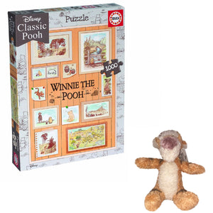 Price Toys Winnie the Pooh 1000 Piece Photoframe Puzzle and Tigger Soft Toy