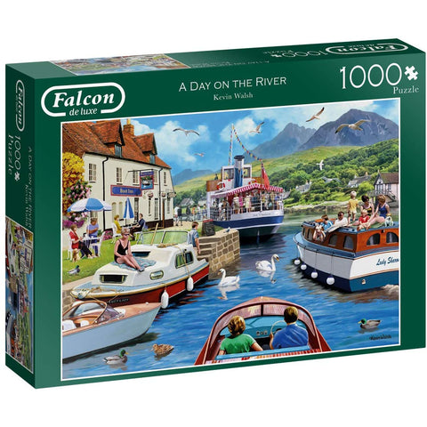 1000 Piece Jigsaw Puzzle | A Day on The River  | Falcon de Luxe