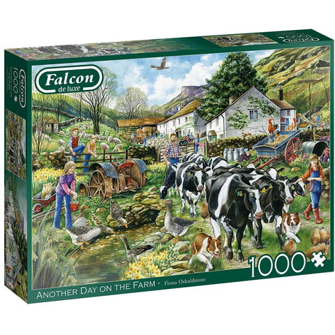 1000 Piece Jigsaw Puzzle | Another Day on the Farm | Falcon De Luxe