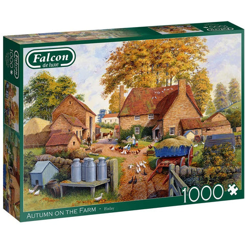Image of 1000 Piece Jigsaw Puzzle | Autumn on The Farm | Falcon de Luxe