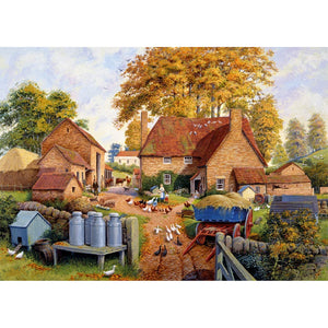 1000 Piece Jigsaw Puzzle | Autumn on The Farm | Falcon de Luxe