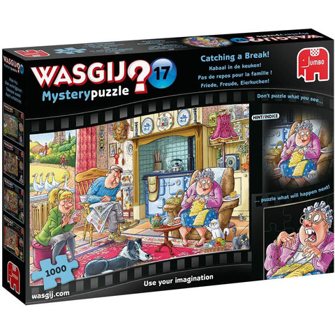 Wasgij |  Mystery 17-Catching a Break |1000 Piece Jigsaw Puzzle