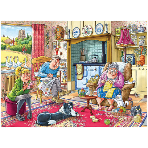 Image of Wasgij |  Mystery 17-Catching a Break |1000 Piece Jigsaw Puzzle