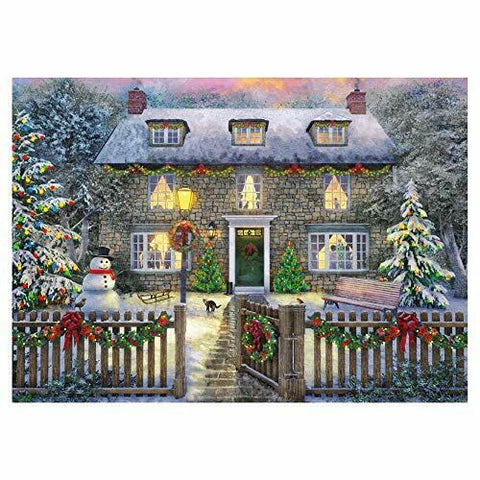 1000 Piece | The Christmas Cottage | Jigsaw Puzzle | Falcon