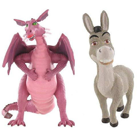 Shrek mini figure toys - Donkey and Dragon