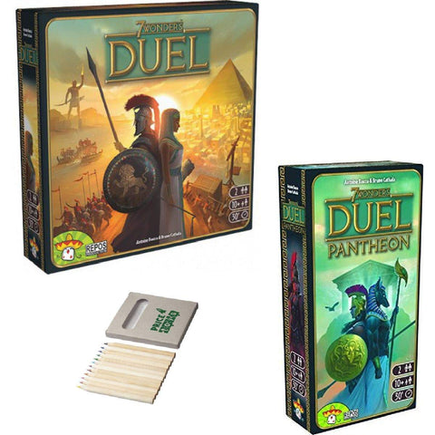 Image of 7 Wonders Duel Game Collection - Includes 7 Wonders:Duel and Pantheon Expansion