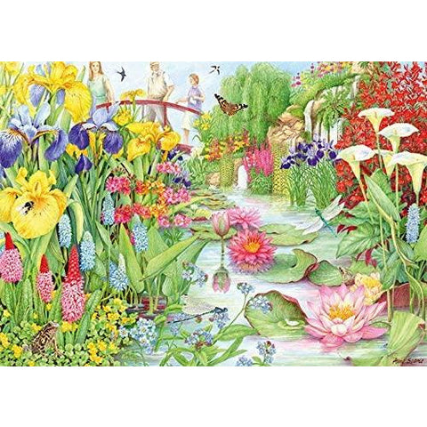 1000 Piece Jigsaw Puzzle | Flower Show 'The Water Gardens' | Falcon De Luxe