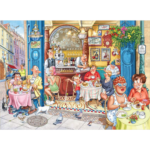 Wasgij Mystery 18 - Grabbing a Quick Bite 1000 piece Jigsaw Puzzle
