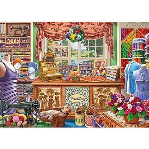 1000 Piece Jigsaw Puzzle | The Haberdashers Shoppe  | Falcon de Luxe