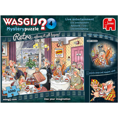 Image of Wasgij Retro Mystery 4 - Live Entertainment 1000 piece Jigsaw Puzzle