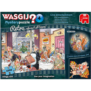 Wasgij Retro Mystery 4 - Live Entertainment 1000 piece Jigsaw Puzzle