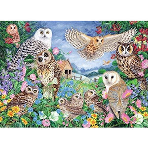 1000 Piece Adult Jigsaw Puzzle | Owls in the Wood  | Falcon de luxe