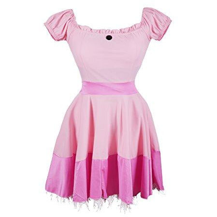 Princess Peach Fancy Dress Costume UK Sizes 8-16