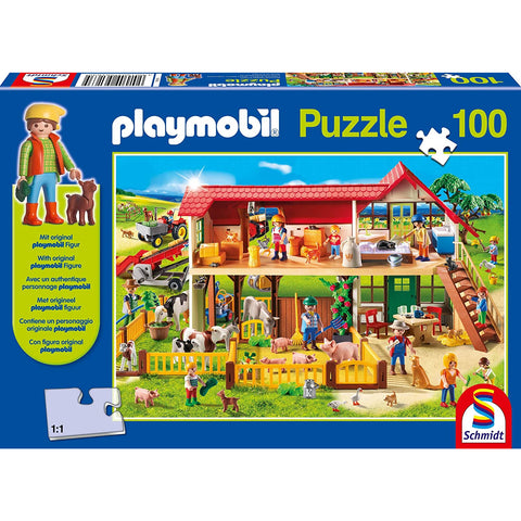 Image of Playmobil | Farm 100 Piece Jigsaw |  Play Figure Included