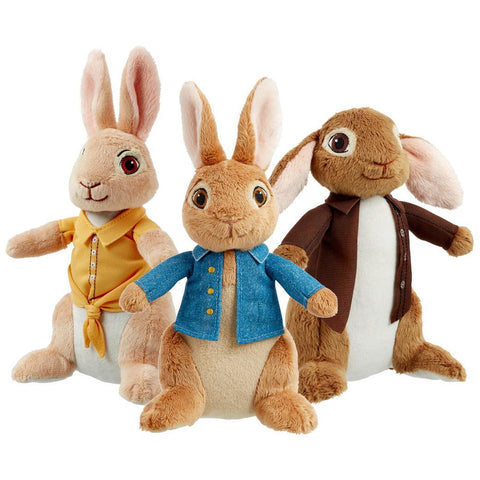 Image of Peter Rabbit Benjamin Bunny Mopsy soft toy