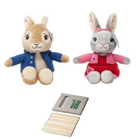 Peter Rabbit and Lily Bob tail Soft toys from TV series