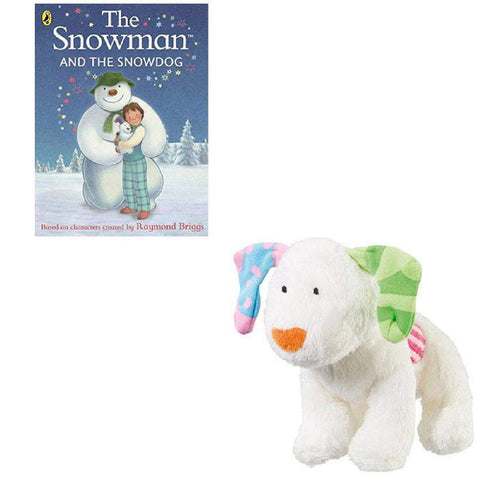 Image of snowman and snowdog book and toy