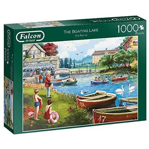 1000 Piece Jigsaw Puzzle | The Boating Lake  | Falcon de Luxe