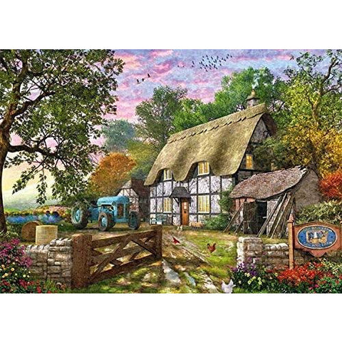 Image of 1000 Piece Jigsaw Puzzle | The Farmer's Cottage  | Falcon de Luxe