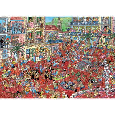 Image of 1000 Pieces |  La Tomatina (The Tomato Battle) | Jigsaw Puzzle | Jan Van Haasteren