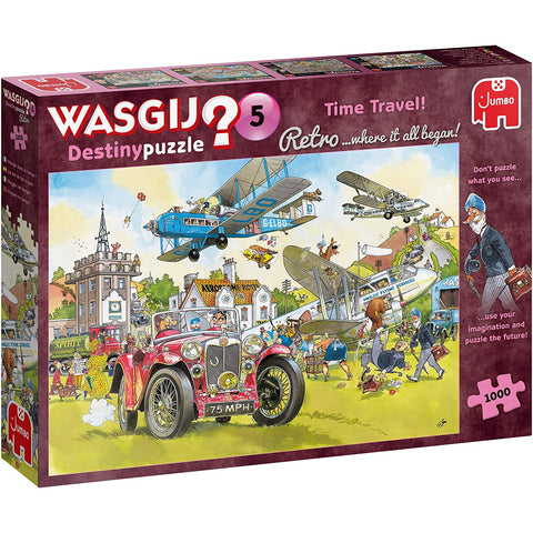 Image of 1000 Piece Jigsaw | Time Travel | Wasgij Destiny Retro 5