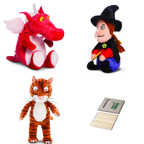 Image of Room on the Broom Witch, Cat and Dragon Set