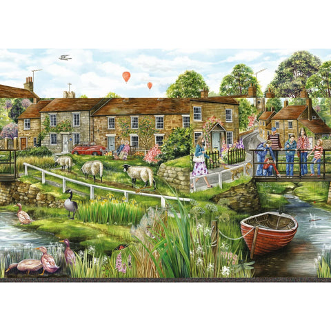 Image of Village Life |  2 x 1000 Piece Jigsaw Puzzle | Falcon de Luxe