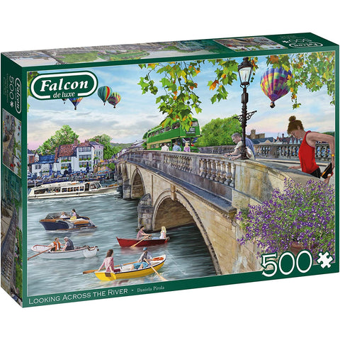 500 Piece Jigsaw Puzzle | Looking Across the River |500 piece Falcon de Luxe