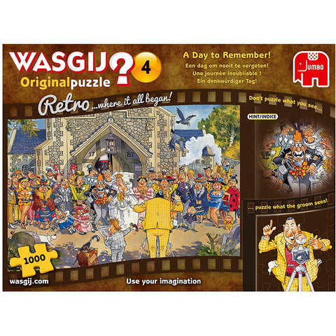 Wasgij Retro Original 4 - A Day to Remember 1000 piece Adult Jigsaw Puzzle