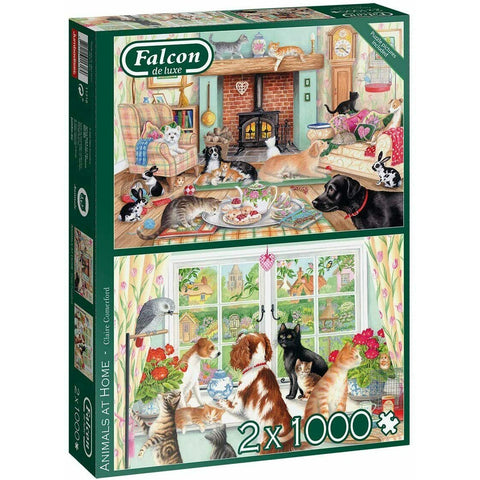1000 Piece | Animals at Home | 2 x 1000 Piece | Jigsaw Puzzle | Falcon