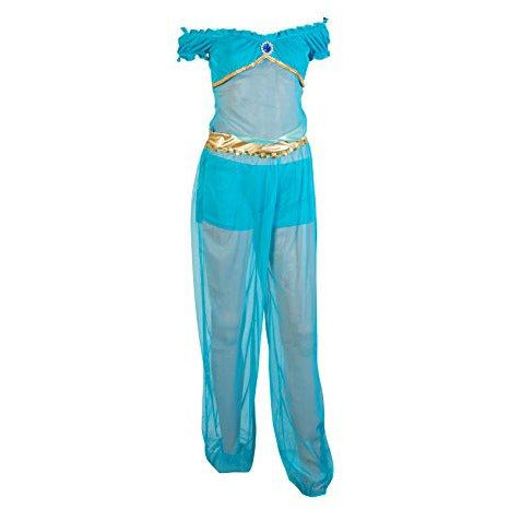 Image of Arabian Princess Fancy Dress Costume - UK Sizes 6-12