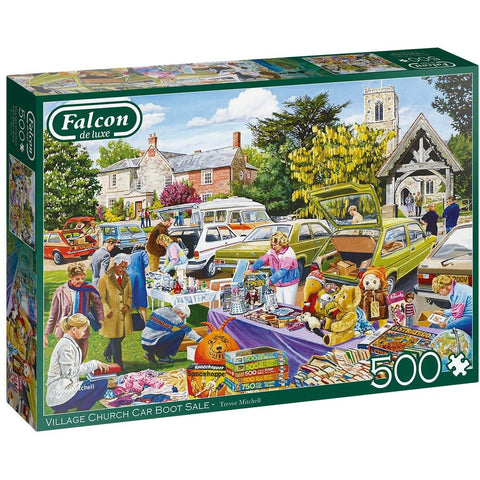 Village Church Car Boot Sale | 500 Piece Jigsaw Puzzle | Falcon de Luxe