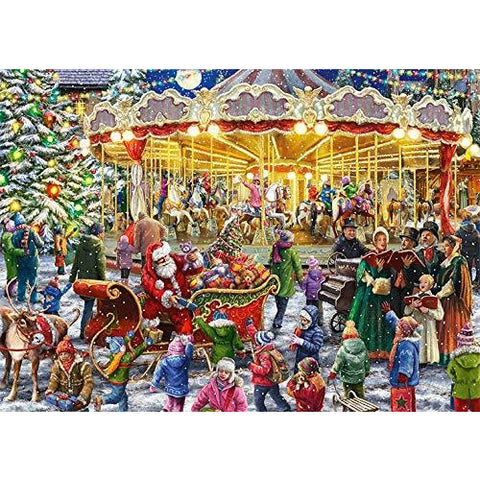 Image of 1000 Piece | The Christmas Carousel | 2 x 1,000 Jigsaws