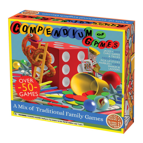 Family Compendium of Games | Over 50 Games | Dice, Tiddlywinks, Ludo Snakes and Ladders