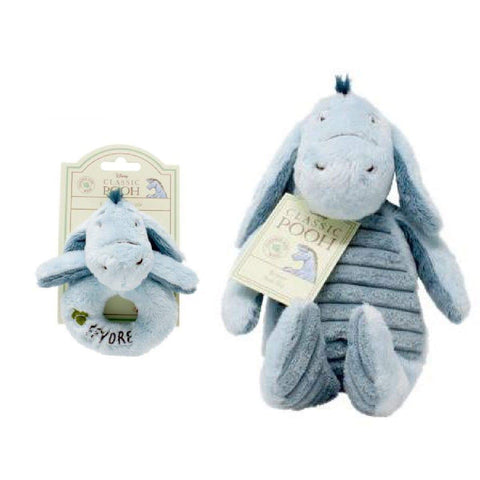 Image of eeyore soft toy and rattle set from winnie the pooh