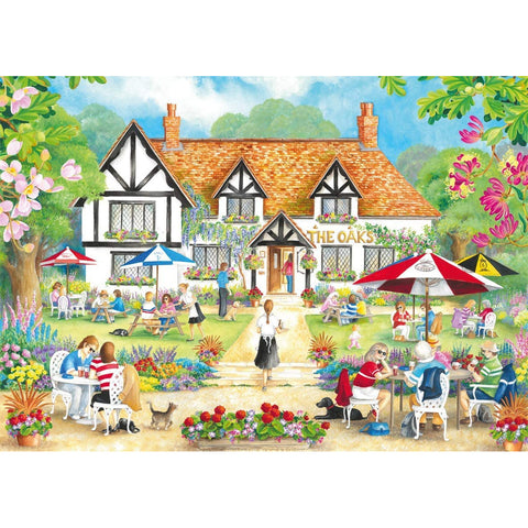 Image of 500 Piece Jigsaw Puzzle | A Summer Evening at The Pub | 2 x 500 piece Falcon de Luxe