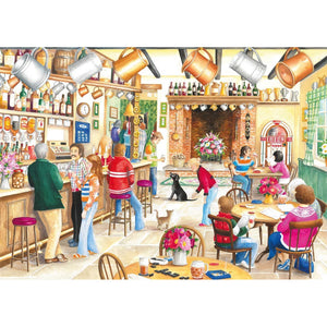 500 Piece Jigsaw Puzzle | A Summer Evening at The Pub | 2 x 500 piece Falcon de Luxe