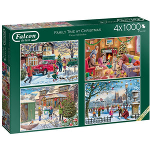 1000 Piece | Family Time at Christmas | 4 x 1000 Piece | Jigsaw Puzzles | Falcon de Luxe-